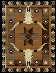 Western Style Area Rugs Steer Western Area Rug 5 X 6 5 Ar3237 Free Shipping