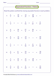 collection of solutions grade 4 equivalent fractions worksheets