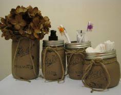 Burgundy Bathroom Accessories by Primitive Bathroom Decor Mason Jar Bathroom By Godgirlsandglitter