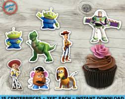 toy story cupcake topper rings woody and buzz light year