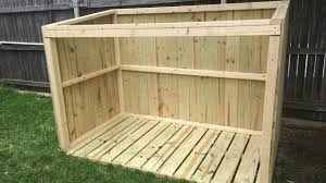 How To Make A Storage Shed Plans by Building A Garbage Can Enclosure Part 1 Youtube
