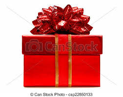 gift box with ribbon gift box with bow and ribbon isolated on white stock photos