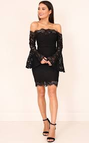 black lace dress sweet for you dress in black lace showpo