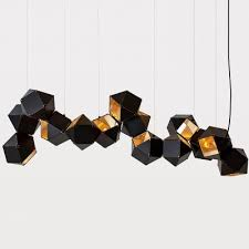 Modern Multi Light Pendants Modern Multi Light Pendant In Dna Shape 14 Lights Beautifulhalo Com