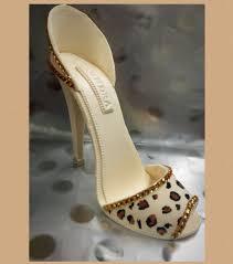 high heel cake topper high heel cake topper gumpaste shoe leopard print shoe high heel