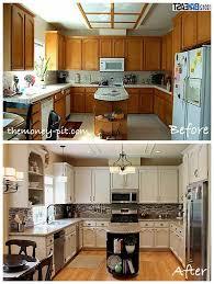 Modernizing Oak Kitchen Cabinets Modernizing An 80 S Oak Kitchen Note The Use Of Trim On The