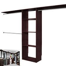 solid wood closets walk in closet organizer system espresso walk