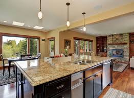 White Kitchen Granite Ideas by Interior Decoration White Kitchen With Brown Kitchen Island Plus