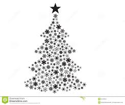 vector snowflakes in tree shape stock image image 5240321