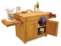 catskill craftsmen kitchen cart with butcher block top modern
