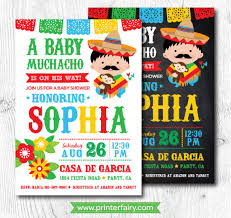 mexican baby shower baby shower invitations mexican baby shower