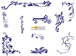 sketched floral ornaments brushes fbrushes