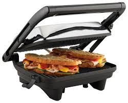 Hamilton Beach Panini Press Gourmet Sandwich Maker Chrome