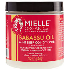 mielle organics babassu oil u0026 mint deep conditioner