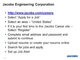 Upload Resume Online For Jobs Jolts Jacobs Online Talent System Jolts Ppt Download