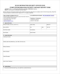 29 incident report format free u0026 premium templates