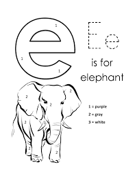 lower case e coloring page pages in letter within shimosoku biz