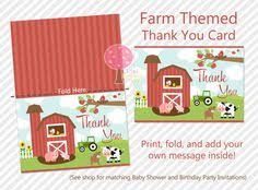 printable tractor thank you card deere themed thank you