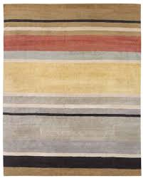Blue And Red Striped Rug New Moon Rug Tangent Brown Red A Striped Motif Featuring Tan