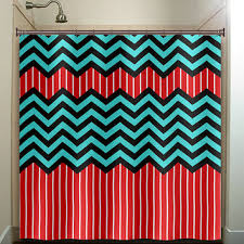 Red And Black Bathroom Accessories by Blue Chevron Curtains Grey White U0026 Blue Half Chevron Window