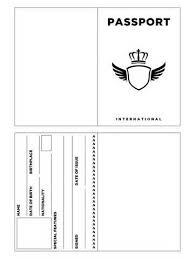 Passport Picture Template printable passport template pinteres