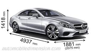 mercedes length mercedes cls coupé 2015 dimensions boot space and interior