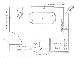 8 x 12 foot master bathroom floor plans walk in shower possible