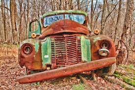 Vintage Ford Truck Colors - rusty old green truck in autumn color photograph vintage car
