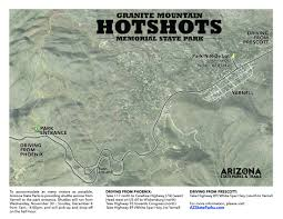 Arizona Map State by Granite Mountain Hotshots Memorial Trail U2022 Hiking U2022 Arizona