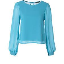 sleeve chiffon blouse blue sleeve chiffon blouse polyvore