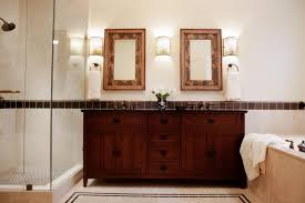 Craftsman Bathroom Lighting Craftsman Bathroom Lighting Bungalow Style Mirrors Mission Faucets
