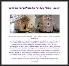 Park Flyers Backyard Flyers by Where Do You Park It How To Find Land For Your Tiny Home Or