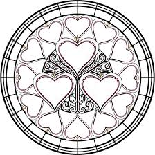 15 stained glass coloring pages for kids print color craft