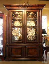 China Cabinets With Glass Doors Beautiful China Cabinet With Lighted Glass Door Hutch