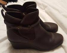 ugg australia womens emalie brown stout leather ankle boot 7 ebay ugg lesley stout leather womens wedge waterproof boots us 12 ebay