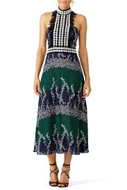 rent ivy printed trellis dress by yigal azrouël for 70 210