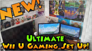 new ultimate wii u gaming set up my gaming room youtube