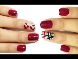50 most stylish burberry print nail art design ideas