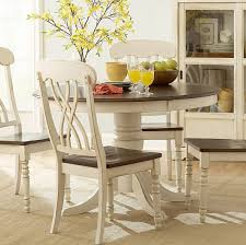 homelegance ohana 6 piece round dining room set in white cherry
