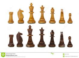 Wooden Chess Set Vintage Wooden Chess Set Pieces Isolated Royalty Free Stock Images
