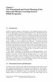 the educational and social meaning of the open and distance