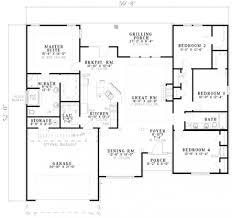 one floor plan open floor plans one beautiful house plan bedroom ranch style