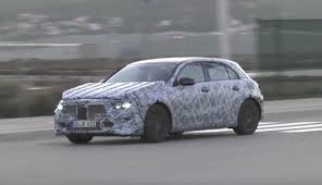 mercedes a class 2019 mercedes a class looks low and wide while testing in spain