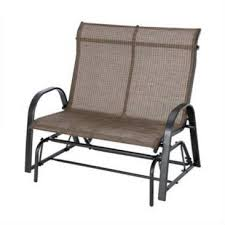 outdoor high back loveseat glider chair patio garden bench with