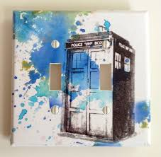 galaxy switch plate cover decorative switch plate cover nylon full size of decoration fabulous decorative double switch plate cover blue texture police box design