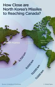 Map Of World Korea by North Korea U0027s Missile Could Hit Canada And We Might Not Be