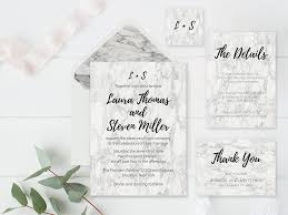 Wedding Invitation Suites Modern Marble Wedding Invitation Suite And Envelope Liners