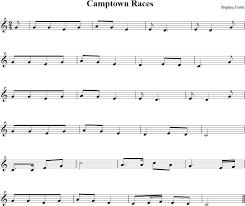 camptown races free violin sheet music