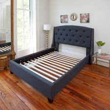 Platform Bed Ideas Ideas Tufted Headboard And Platform Bed With Bunkie Boards Twin