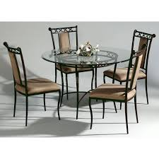 Wrought Iron Kitchen Table Rod Iron Dining Room Set Mainstays Jefferson Wrought Iron 7